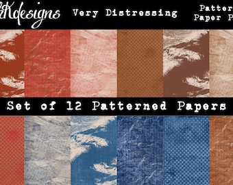 Very Distressing Patterned Paper Pack