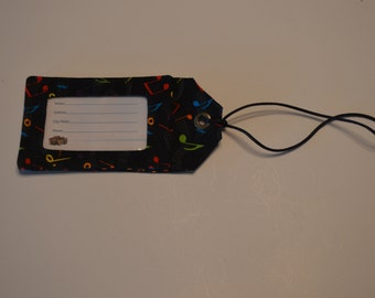 Music Themed Cloth Luggage Tags