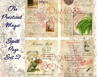 The Practical Magic Inspired page set 2