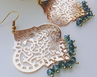 Bohemian sparkle earrings