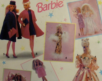 Vintage Simplicity Pattern 0601 for Barbie from 1991 UNUSED
