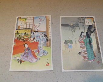 Two Japanese Post Cards