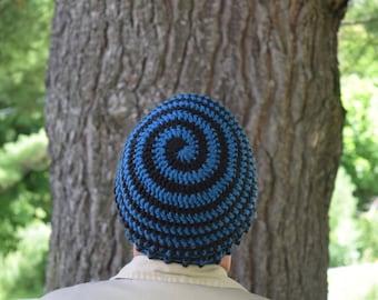 Beanie - Mens Hats - Ladies Hats - Spiral Beanie - Spiral Hat - Child Hat - Boy's Hat - Girls Hat - Winter Hat - Crochet Hat