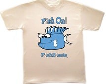 FishZizzle FISH ON Kids T Shirt Youth Sea Life Funny Fish Kids T-shirt Kids Shirt Unisex T-shirt Cute Fish Tee Fish T-shirt Kids T Shirts