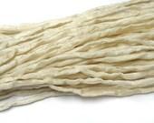 Beige Silk Cord hand dyed ivory ecru silk string for necklace bracelets 2mm