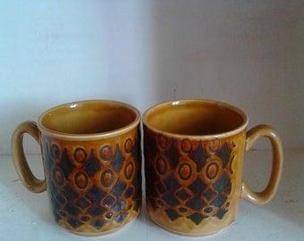 SALE Vintage 1960's WP Made in England Ceramic Mugs Kitchenwares Housewares
