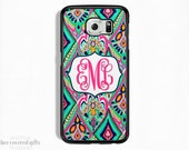 SALE - Personalized Samsung Galaxy S5 Case, Samsung Galaxy S6 Case, Galaxy S6 Edge Case, Navy Pink Mint (433)