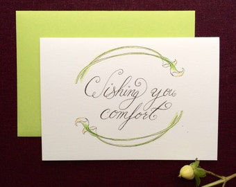 Wishing You Comfort Calla Lily Greeting Card