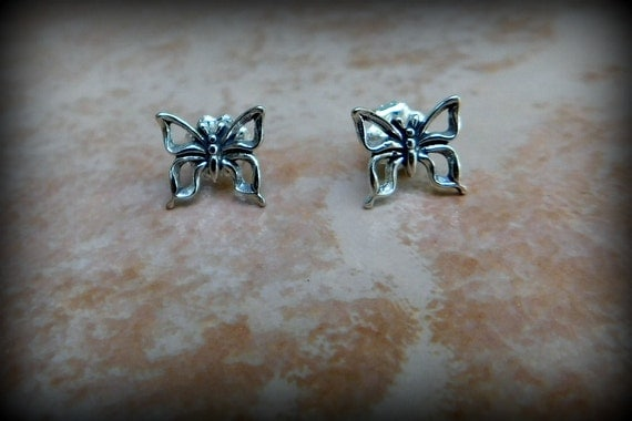 Sweet butterfly earrings, sterling silver earrings, new beginnings