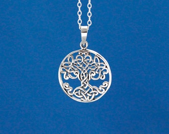 Celtic Style Tree of Life Sterling Silver Necklace