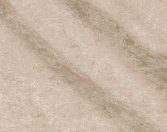 Crushed Panne Velour Fabric Beige  - 1 Yard Style 10002