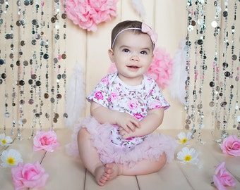 Baby Girl Clothes Dress - Baby Dress - Floral dress - Newborn Girl Dress - Infant dress - Pink Baby Dress - Baby Flower dress