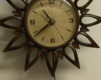 1964 Syroco Electric Wall Clock Syracuse Ornamental Co