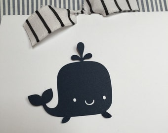 Whale Baby Thank You Cards