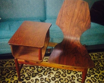 Plycraft bentwood telephone chair- eames, mid century modern, RARE