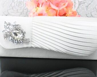 Wedding Clutch, Wedding Purse, Bridal Clutch, Bridal Purse Satin White Clutch Purse, Bridal Accessories Style-30