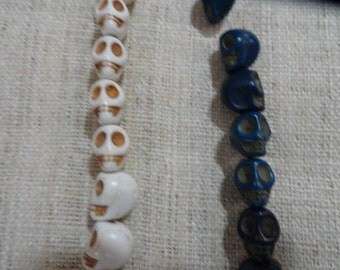 Small African Skull Beads