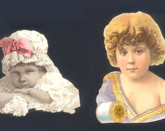 Vintage Victorian DieCuts - Handmade Cards, Altered Books, Scrapbooking