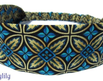 Blue Gold Headband for Ladies, Women, or Teens by Sheylily