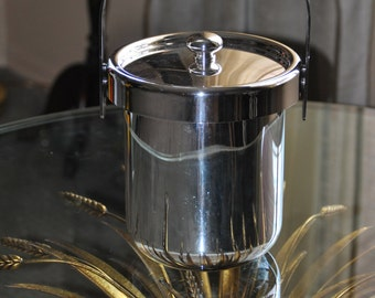 DISCOUNTED-Vintage ARGENTE Silver Plated Brass Ice Bucket