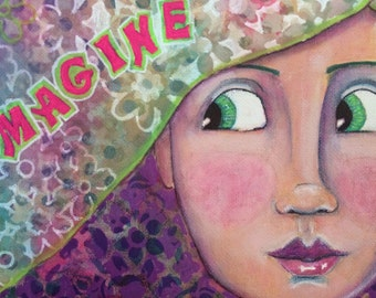 "Original Painting ""Imagine"""