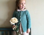 Girl sweater, hand knitted, wool, 6 months to 5 years