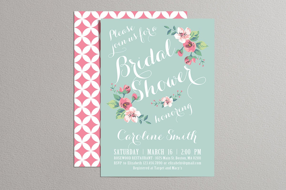Gargantuan image within printable bridal shower invitations