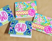 Monogrammed Personalized Preppy Delight Note Cards Stationery