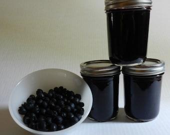 Salal Berry Jam, 8 oz. jar, Hand made, Native Berry Jam, Falls City, Oregon Pacific Northwest,