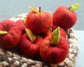 felt apple apples