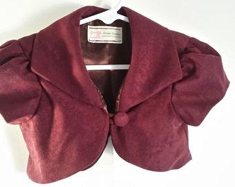 Wine bolero jacket