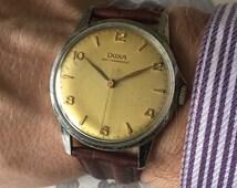 """Lovely 1950s """"oversized"""" Doxa mens vintage Swiss manual wind watch in great working order"""