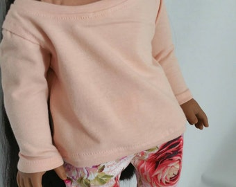Blush Slouchy Sweater for 18 inch dolls