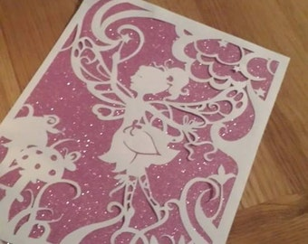 Fairy Papercutting Template - Commercial use