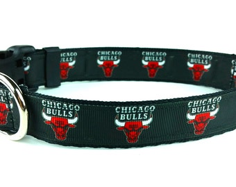 Chicago Bulls Dog Collar