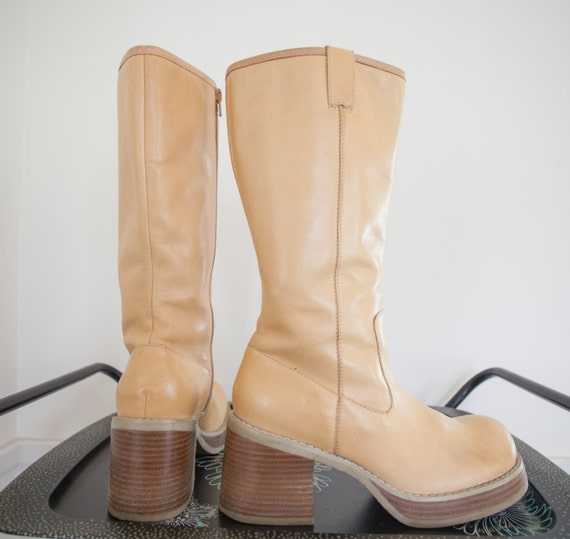 chunky platform boots 80s 90s candies size 10 boots 70s style
