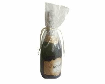 Ivory Bottle / Wine Organza Gift Bag