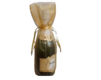 Gold Bottle / Wine Organza Gift Bag