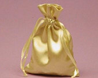 Large Gold Satin Gift Bag