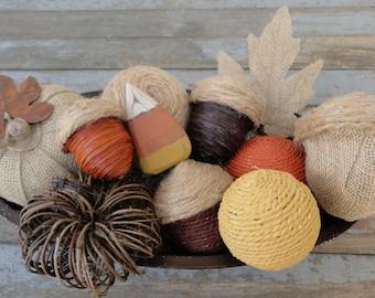 Rustic Fall Bowl Filler-Fall Decorative Bowl Filler-Acorns, Pumpkins, and Decorative Balls-Rustic Fall Decor-Rustic Home Decor-Autumn Decor
