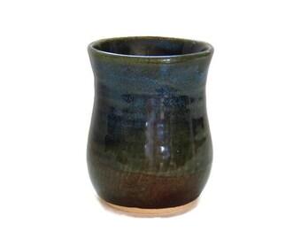 Blue green handleless coffee tea mug 16oz by turningtruestudios - Handleless coffee mugs ...