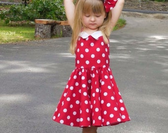 Lets going dancing dress  50's style dress, Minnie Mouse dress