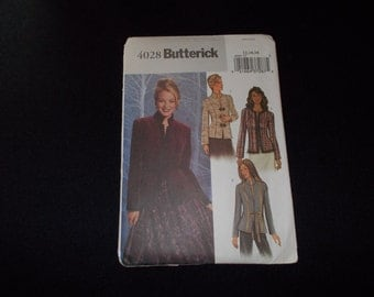 Butterick Jacket Pattern  #4028 -  Size  12,14,16   2003   UNCUT