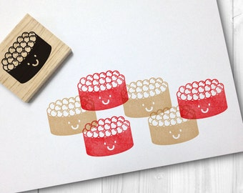 salmon roe sushi/ ikura sushi rubber stamp - FREE SHIPPING WORLDWIDE*