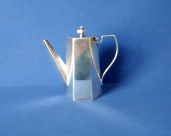 Small Silver Plated Coffee Pot W. Hutton & Sons. c1880, Model? Sample?