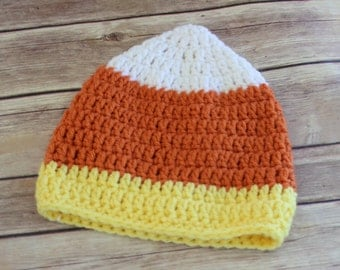 Candy Corn Baby Hat, Ready to ship, 0-3 months,3-6 months, 6-12 months