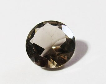 Natural Round 10mm Smokey Quartz Faceted Loose Gemstone, 10mm Round Smokey Quartz, Loose Faceted Smokey Quartz Gemstone, Round 10mm Gemstone