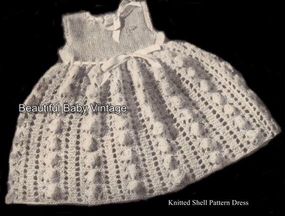 Knitting Journal Pdf : Knitting pattern pdf baby or dolls shell dress jacket