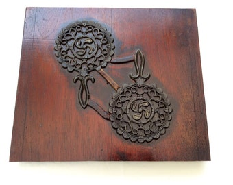 Wood Foundry Mold with trivet design