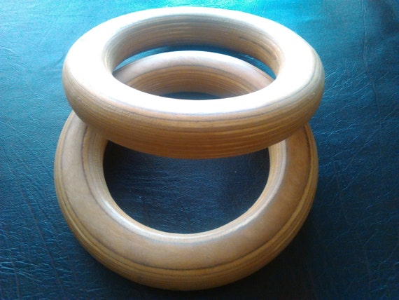 Gymnastic Rings Wood Crossfit Gym Strength Training Workout Plywood